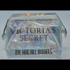 VICTORIA'S SECRET WE ARE ANGELS CLEAR BEAUTY BAG